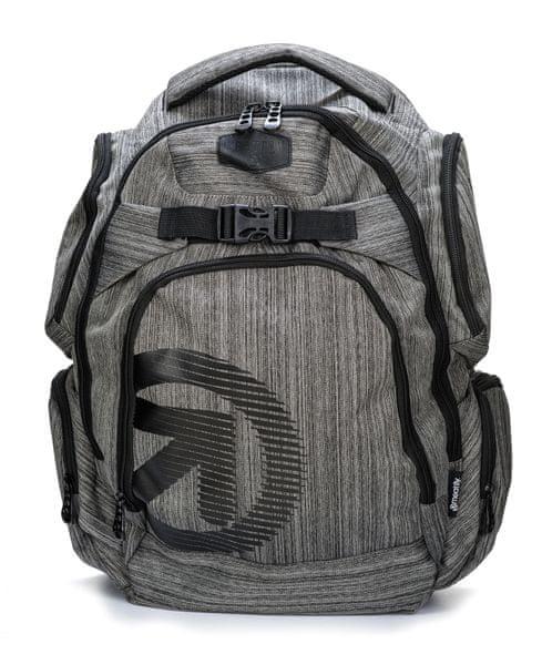 MEATFLY unisex šedý batoh Mirage