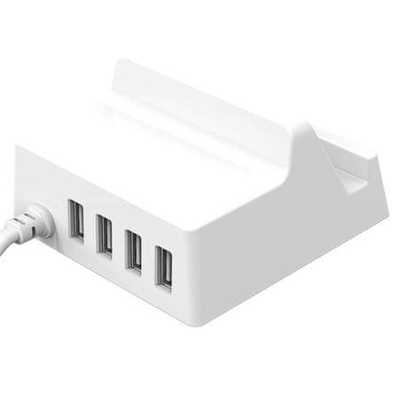 Orico polnilec s stojalom 4 x USB CHK-4U, bel