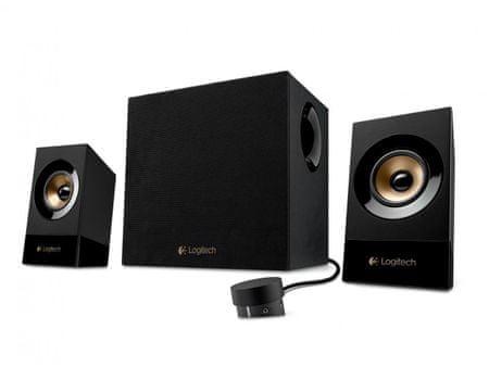 Logitech komplet zvočnikov 2.1 Z533, 60 W, črni