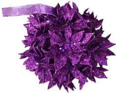 EverGreen Vánoční dekorace koule 12 cm, fialová