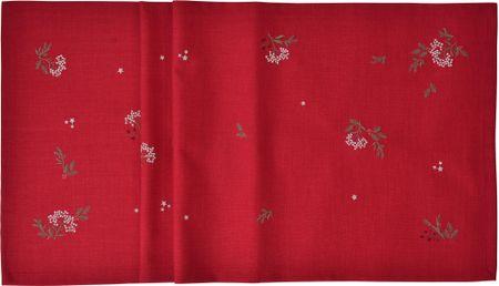 Sander Bieżnik dekoracyjny Winter Dream 50x150 cm, czerwony