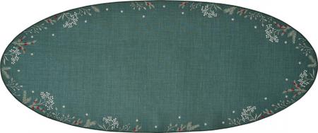 Sander dekoratívny obrus Winter Joy 28x58 cm, zelená