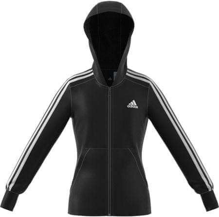 Adidas YG 3S Full Zip Hoodie Black/White 140