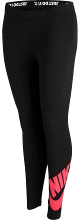 Nike legginsy sportowe G NSW LEG A SEE LGGNG LOGO Black/Red S
