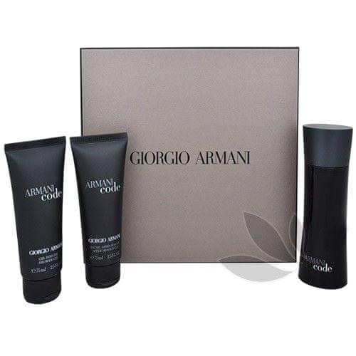 Giorgio Armani Code For Men - toaletní voda s rozprašovačem 75 ml + sprchový gel 75 ml + balzám po holení 75 ml