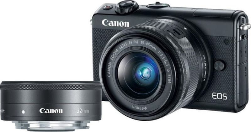 Canon EOS M100 + 15-45 mm + 22 mm Black