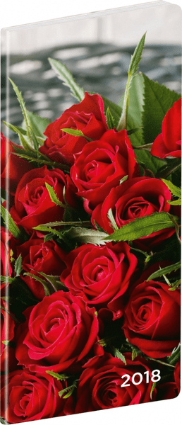 Kapesní diář Růže 2018