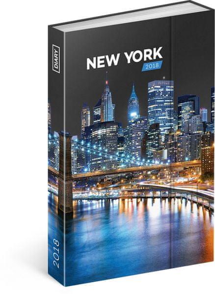 Týdenní magnetický diář New York 2018