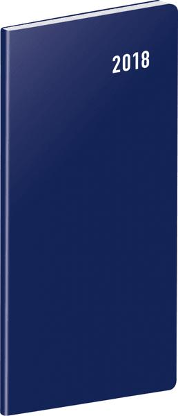 Kapesní diář Modrý 2018