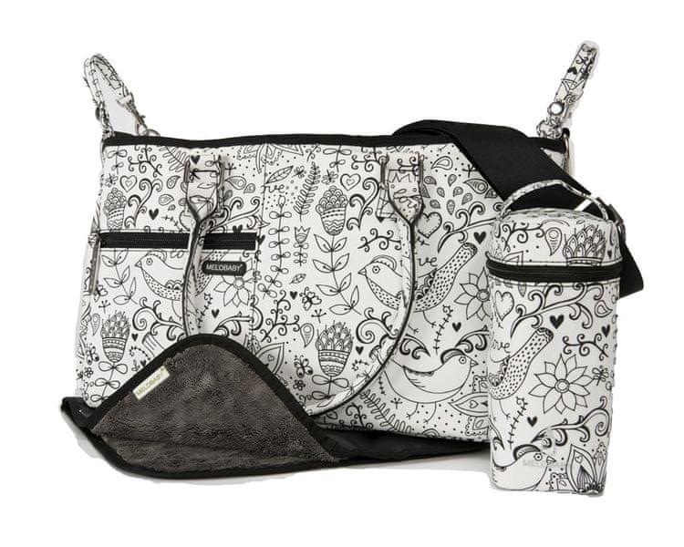 Melobaby LOVE přebalovací taška black and white