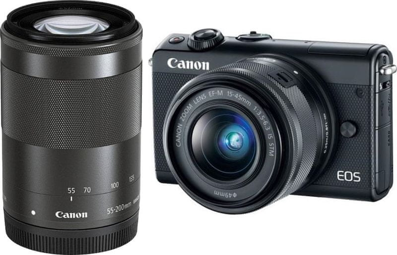 Canon EOS M100 + 15-45 mm + 55-200 mm Black