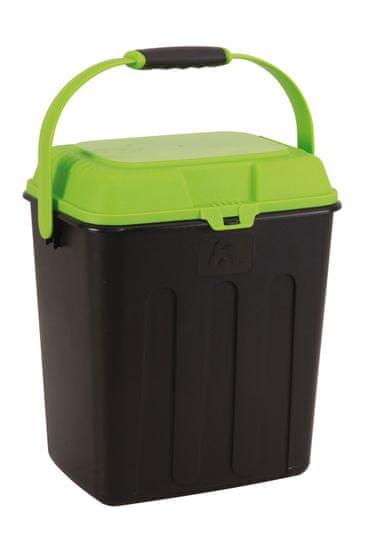 Maelson box na karmę zwierzęcą czarny/zielony
