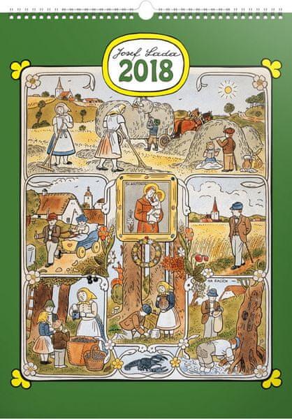 Nástěnný kalendář Josef Lada – Měsíce 2018