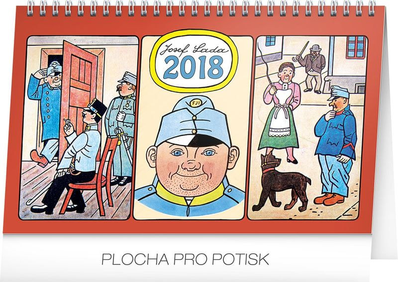 Stolní kalendář Josef Lada – Švejk 2018
