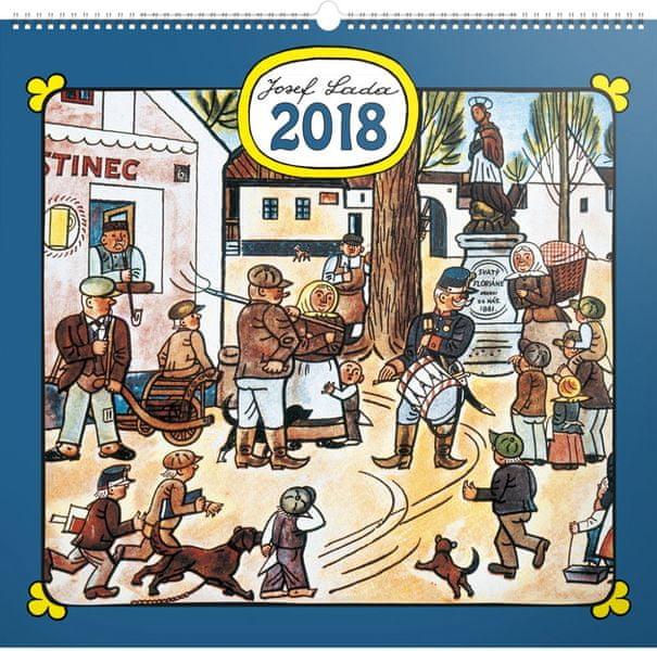 Nástěnný kalendář Josef Lada – Náves 2018