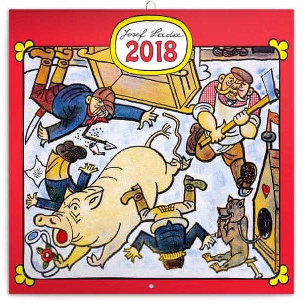 Poznámkový kalendář Josef Lada – Řemesla 2018