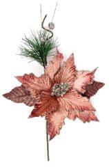 Seizis Květ starorůžový s větví 40cm, 4ks