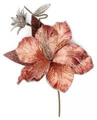Seizis Květ starorůžový se třpytem, 34cm, 4ks