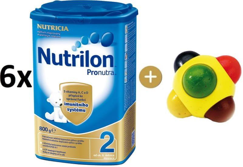 Nutrilon 2 Pronutra - 6×800g + SES Barevná kulička