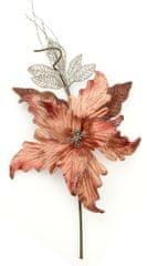 Seizis Květ dekorační se třpytem starorůžový, 40cm, 4ks
