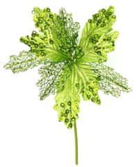 Seizis Květ dekorační světlezelený s kroužky, 27cm, 4ks