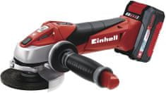 Einhell akumulatorski kotni brusilnik TE-AG 18 Li Kit Power X-Change + baterija in polnilnik