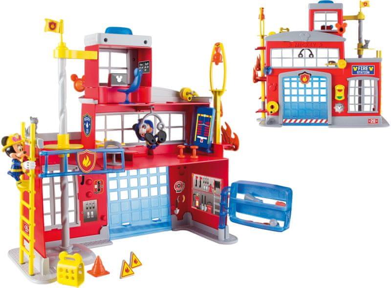 Mikro hračky Mickey Mouse hasičská stanice