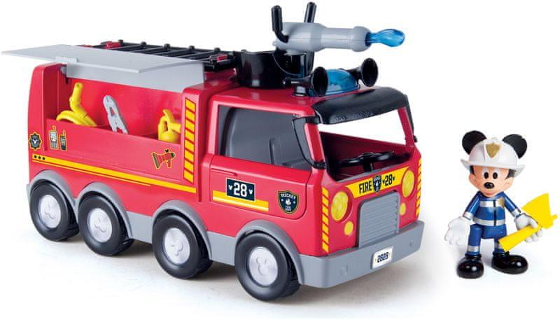 Mikro hračky Mickey Mouse hasičské vozidlo