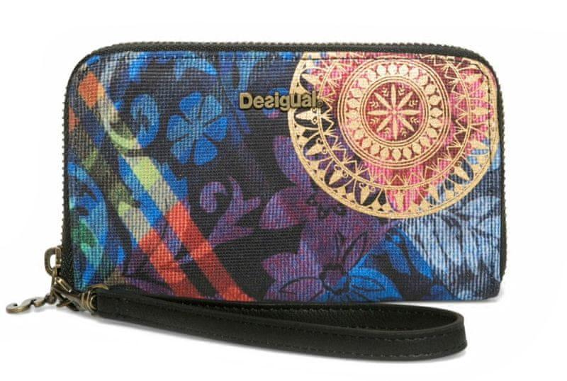 Desigual dámská vícebarevná peněženka Mini Zip Transflores