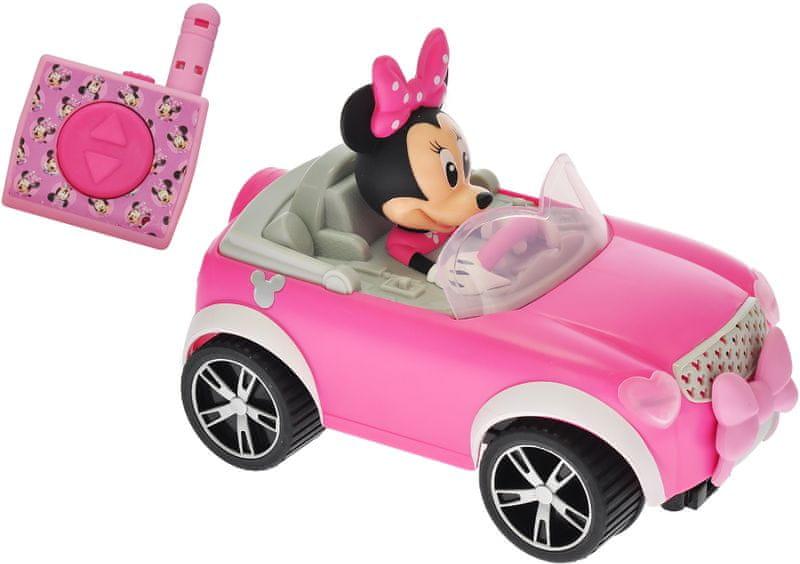 Mikro hračky Minnie R/C cabriolet, 17cm