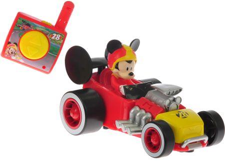 Mikro hračky Mickey Mouse R/C závodná formula, 13cm