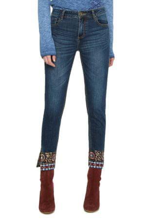 Desigual dámské jeansy Exotic Papping 26 tmavo modrá - Alternatívy ... 09450df0a98