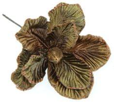 Seizis Květ dekorační hnědý, 20cm, 4ks