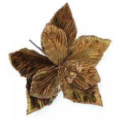 Seizis Květ dekorační hnědý, 30cm, 4ks