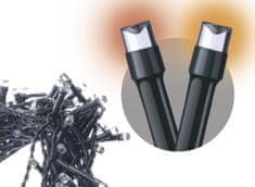 Emos 120 LED řetěz pulzující, 12 m, IP44, jantarová, časovač