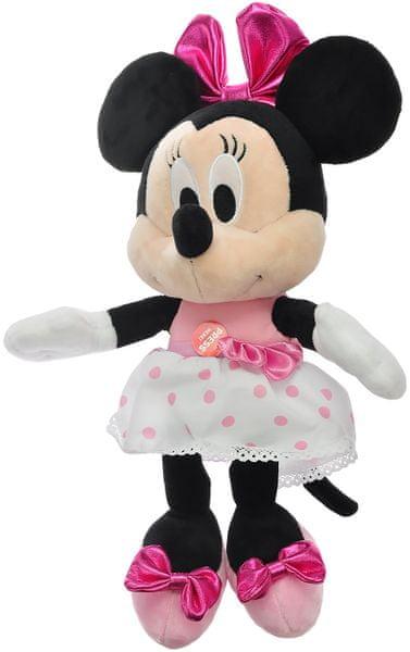 Mikro hračky Minnie plyšová závodní fanynka 30cm