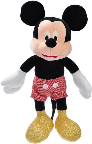 Mikro hračky Mickey Mouse třpytivý plyšový 40cm