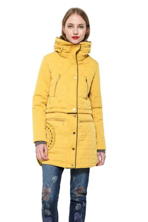Desigual női kabát California 36 sárga  a5b38264d7