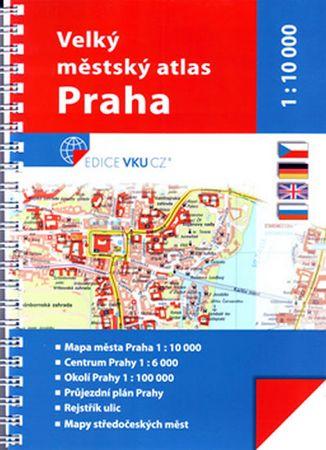 Praha městský atlas 1:10 000