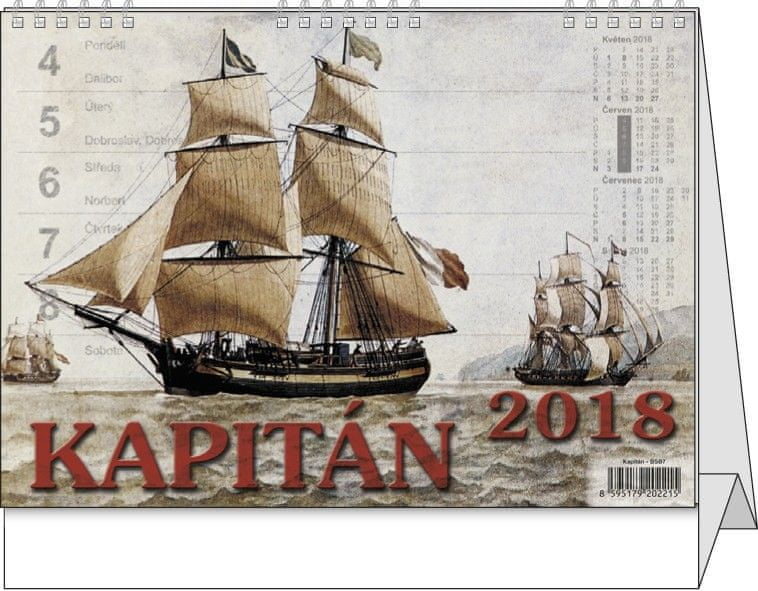 Kalendář stolní pracovní Kapitán