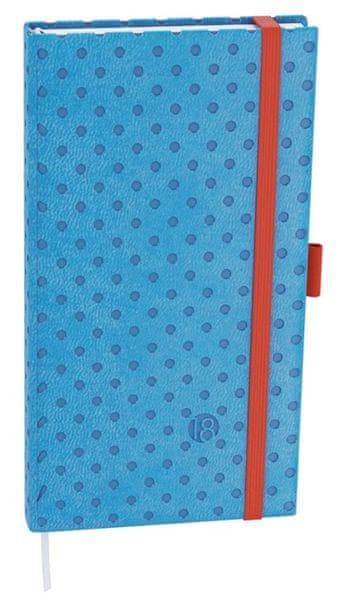 Diář denní Filip vivella extra kapesní puntíky (světle modrý)