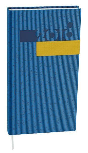 Diář denní Filip vigo kapesní modrý, žlutá gumička