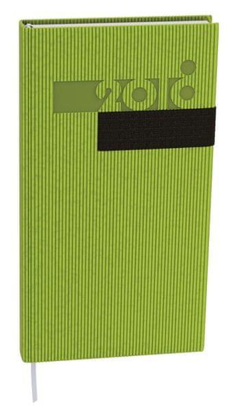 Diář denní Filip vigo kapesní zelený, černá gumička