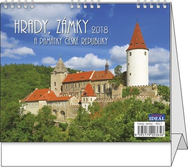 Kalendář stolní Ideál Hrady, zámky a památky ČR