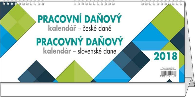 Kalendář stolní pracovní Daňový - daně CZ a SK