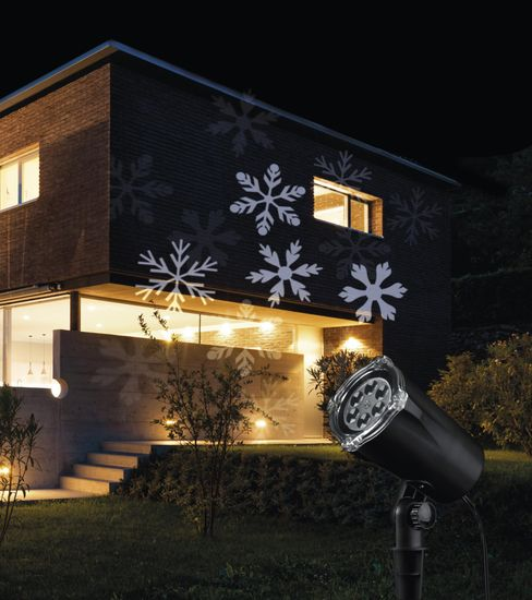 Emos LED projektor, zunanji, motiv snežink