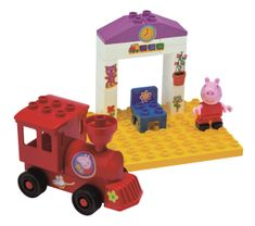 BIG PlayBig Bloxx Pujsa Pepa železniška postaja