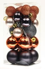 Seizis komplet majhnih bunkic, bakrena, rjava, antracitna barva, 26 kosov, 2 kompleta