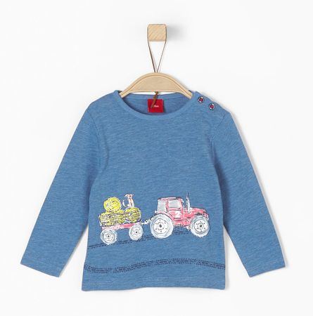 s.Oliver chlapecké tričko 92 modrá