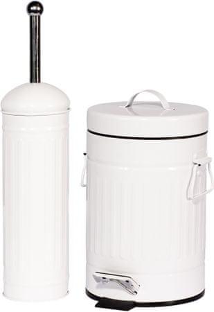 TimeLife koš za smeti 3 L in WC ščetka, bela